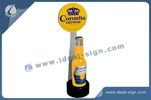 Supermarket Acrylic Glowing Liquor Bottle Display Holder ABS Injection