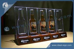 China supplier for personalized illuminated beer bottle display stand for wholesale