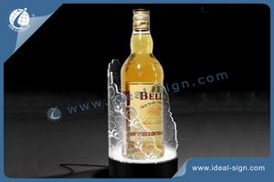 Customized Liquor Bottle Light Display Shelf  Bottle Led Light Base for wholesale