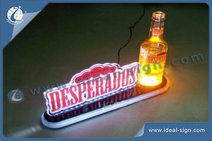Acrylic LED Lighted Liquor Bottle Display Shelf Home Bar