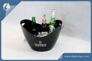 Chinese Element Gold Ingots Shape Ice Bucket By Injection Method For Big Size
