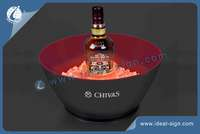 Customized LED Lighted Ice Bucket for Wine for Advertising and Brand Promotion