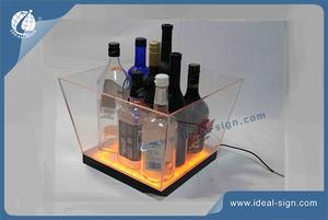 Desperados Square Transparent Acrylic LED Ice Bucket 24*24*27cm