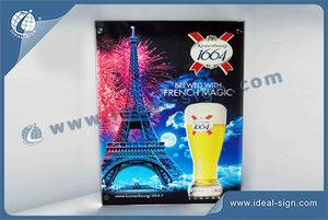 Custom wholesale beer lighted signs display crystal acrylic light box display