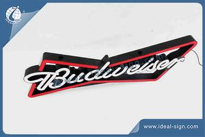 Budweiser Beer Fake Neon Signs With Injection Mould And Circuit Board