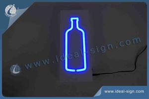 Indoor Bottle Shape LED Neon Sign For Liquor, Drink, Craft Beer, Wine Advertisement
