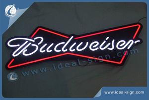 Budweiser Beer Neon Signs Black Acrylic Panel