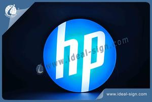 HP Round Shape Acrylic Light Box Display Indoor Wall Mounted Sign