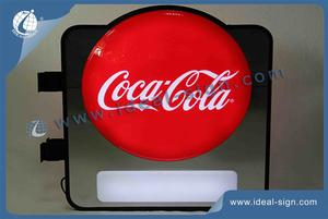 Coca Cola Illuminated Pub Sign Wall Mounted For Advertising