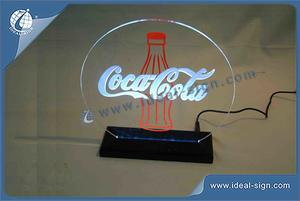 Custom made Coca Cola illuminated signage table display for wholesale