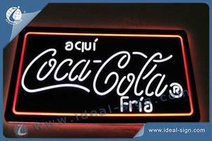 Coca Cola Indoor LED Non Lighting Signs Wholesale For Brand Distributors
