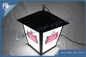 Custom made street lamp style indoor led signs outdoor bar signs for shop display beer brand promotion