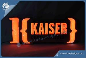 Stainless Steel, Acrylic LED NEON Sign For Indoor Advertising  With Kaiser Logo