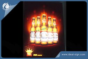 Custom LED Flashing indoor signs acrylic slim light box wall-mounted