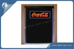 Factory price for fluorescent led writing blackboard custom for drink and beer brands
