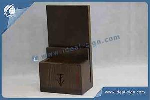 Unique Design Wooden Menu Holder For Tables 12.7*22.8CM