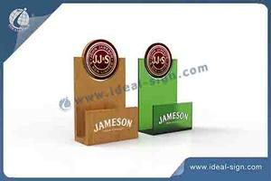 New Design Revolving Top Acrylic Napkin Holder 12.7*6*18CM
