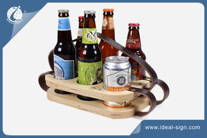 Double Layer Wooden Bottle & Can Holder