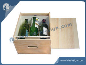 China supplier for personalized 3 bottle wooden wine gift boxesfor wholesale