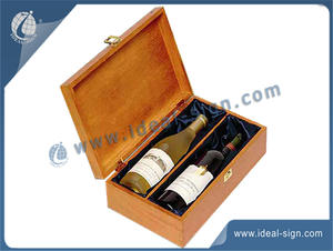 China exporter for champagne pine wooden gift packing box in bulk quantity