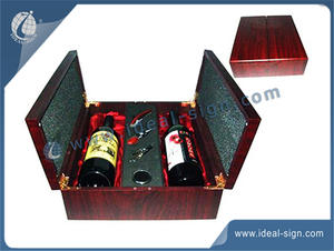 Multifunction Wooden Wine Packing Box Including Corkscrews Location