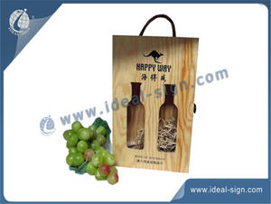 Hollowed-out Pine Wooden Wine Packing Gift Box