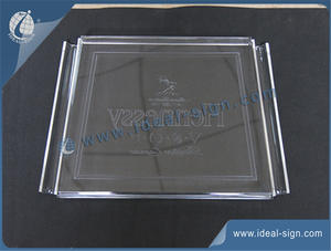 Custom wholesale bar clear acrylic serving tray plastic serving tray