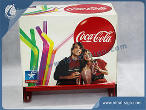 Hygienic Coca Cola Metal Drinking Straw Dispenser For Bar / Shop / Hotel Used