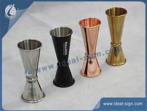Personalized stainless steel measuring cup with 10ml 20ml 30ml 50ml volumn bar measure cups