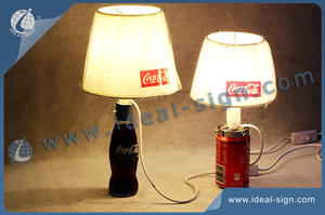 Pratical Promotion Table Lamp For Soft Drink Brands Like Coca Cola, Pepsi And OEM Brands