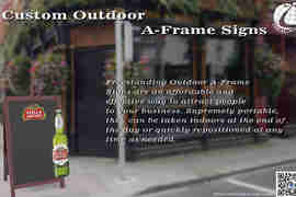 Custom Outdoor A-Frame Signs