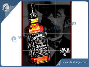 JACK DANIELS Tile Bar Sign With Wooden Frame