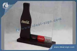 Personalized Coca Cola wood menu stands table menu holders as promotional gift