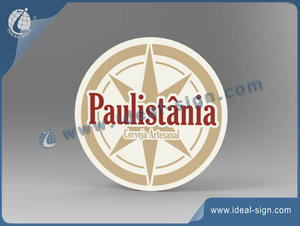 Roundness Acrylic Slim Light Sign Of Paulistania Brand