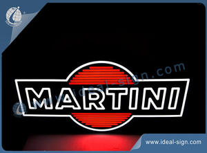 Customized LED Neon Signs For Private Logo White And Red Colors