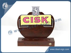CISK Wooden Material Liquor Bottle Display