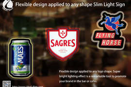 Flexible design applied to any shape Slim Light Sign