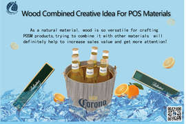 Wood Combined Creative Idea For POS Materials