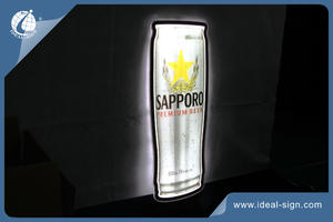 SAPPORO Can Shaped Light Signs
