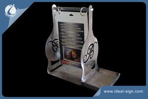 professional wholesale menu table holders in iron