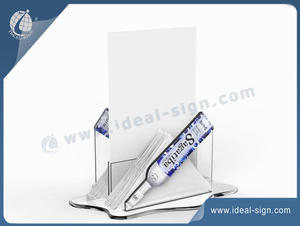 Personalized wholesale acrylic napkin holder table top menu stands supplier