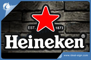 Heineken Irregular Shaped Slim Light Sign