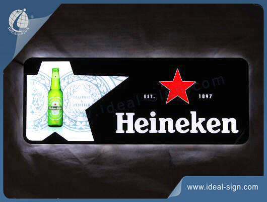 slim led light box sign