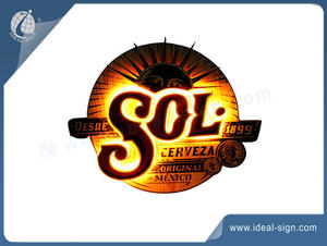 SOL Beer Wood Light Sign