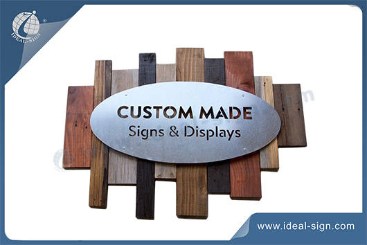 wooden a frame sign