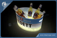 Vedett light ice bucket with led lights