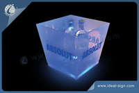 Square Stackable Transparent Acrylic LED Ice Bucket