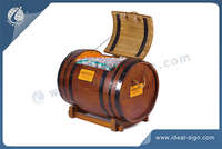 Wine Barrel Type Wooden Ice Bucket
