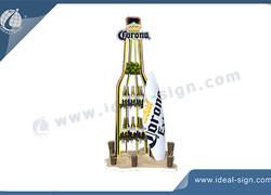 Metal Corona Bottle Shaped Wine Racks For Sale