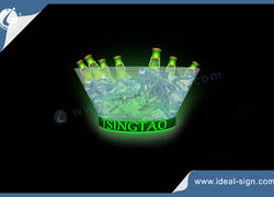 Wholesale 15L Round Shape Acrylic Illuminated Ice Bucket